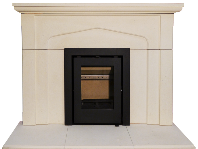 Newbourne Inset 40 in limestone surround