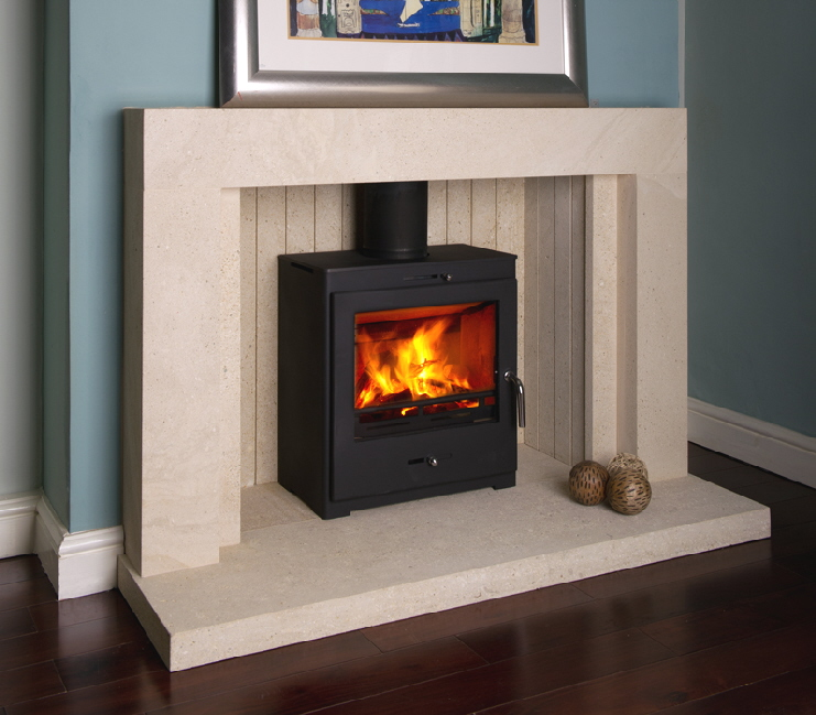 Bohemia X 40 Cube wood burning stove click to see it burning